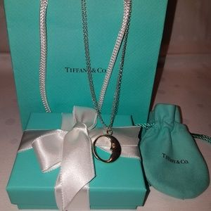 "Authentic Tiffany and Co ""Man in the Moon"" necklac"